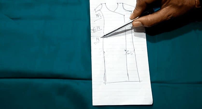 Beautiful angrakha style front kurti neck design cutting and stitching