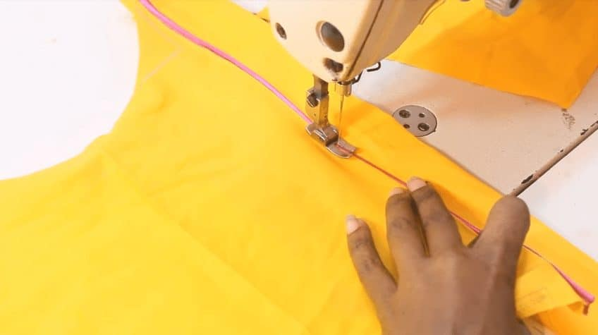 Designer back neck for blouse