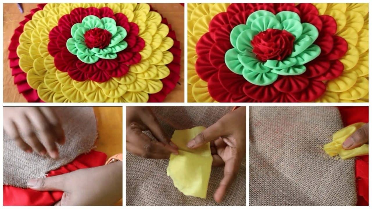 How to make doormats using waste clothes