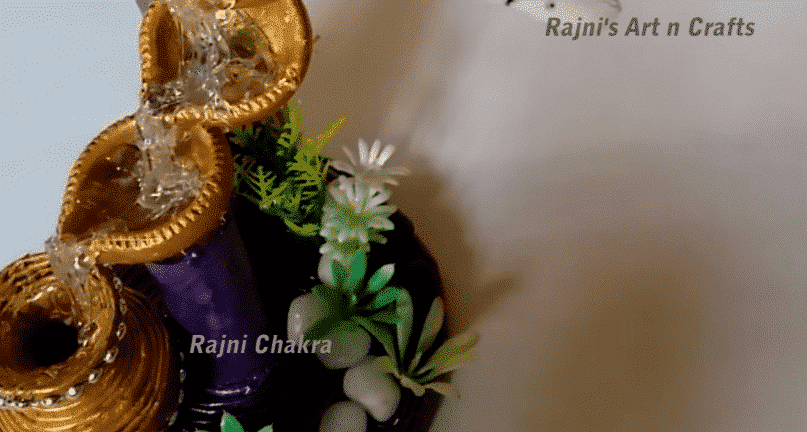 How to make artificial waterfall showpiece with waste meterials