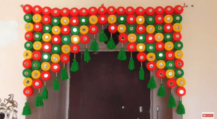 How to make door hanging toran