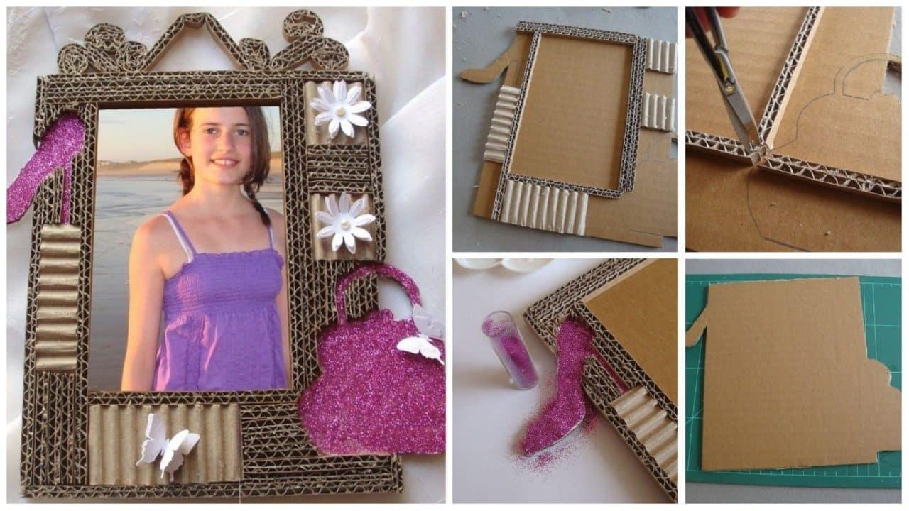 How to make cardboard photo frame