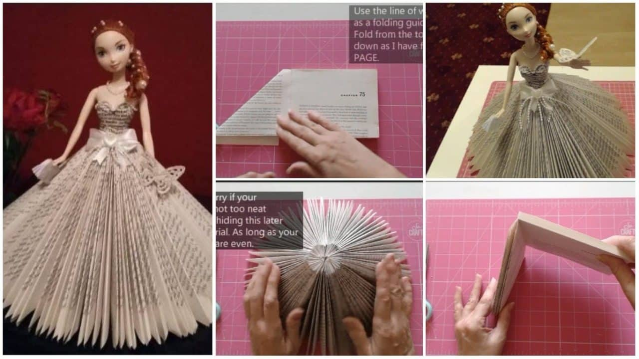 How to make a doll from book fold