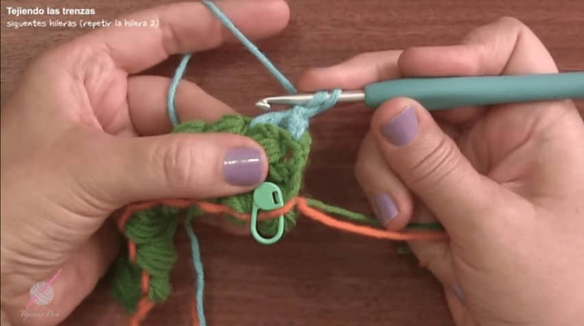 Crochet braid puff stitch