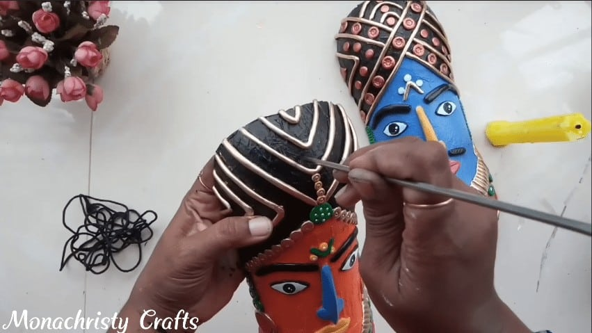 tribal mask from plastic bottle