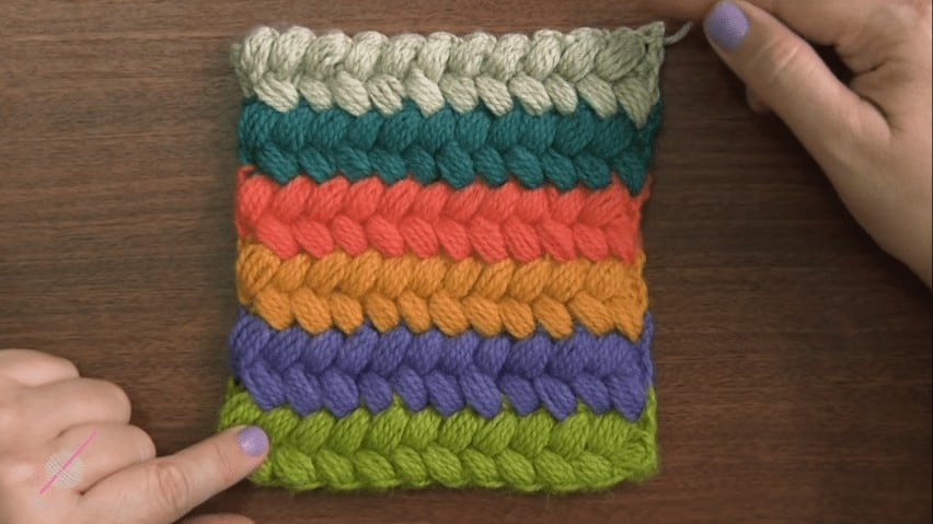 Crochet braid puff stitch