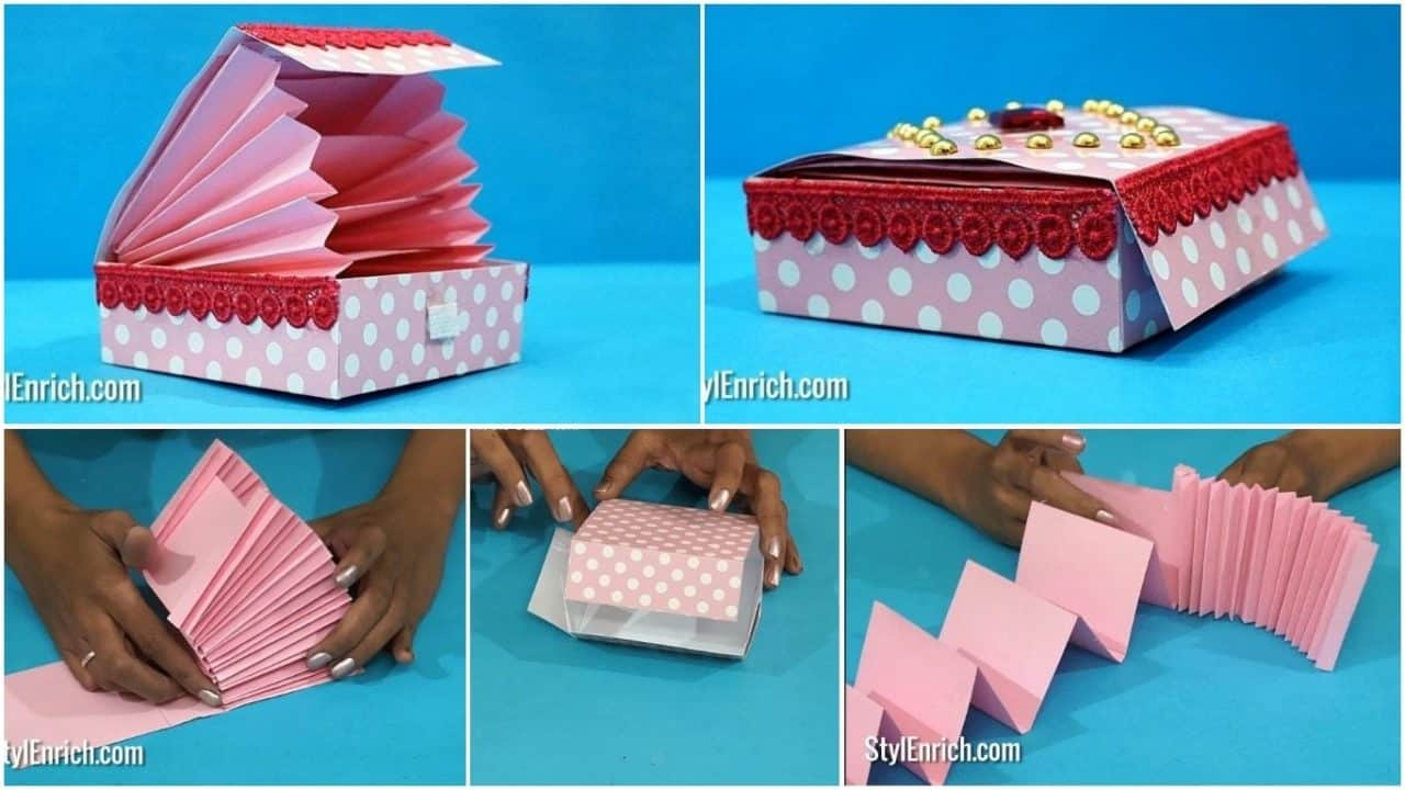 How to make easy magic paper gift box