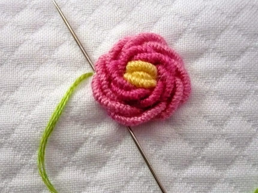 bullion rose embroidery