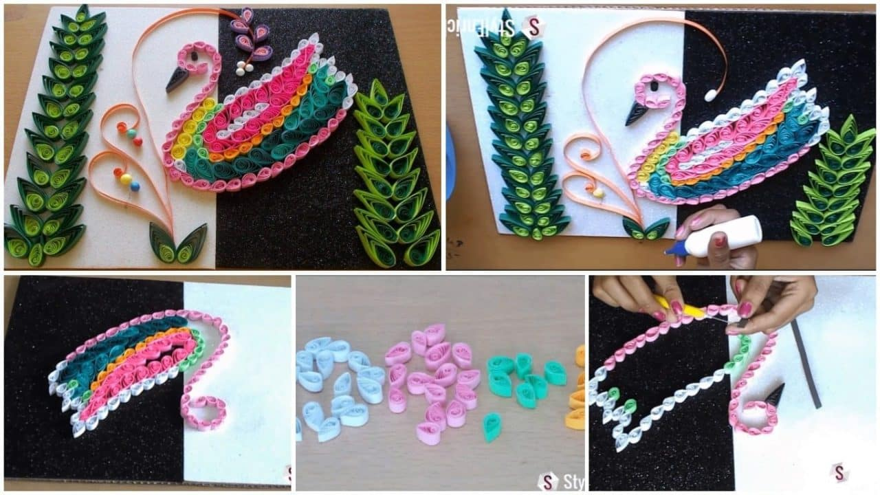 Amazing room decor with bird quilling pattern
