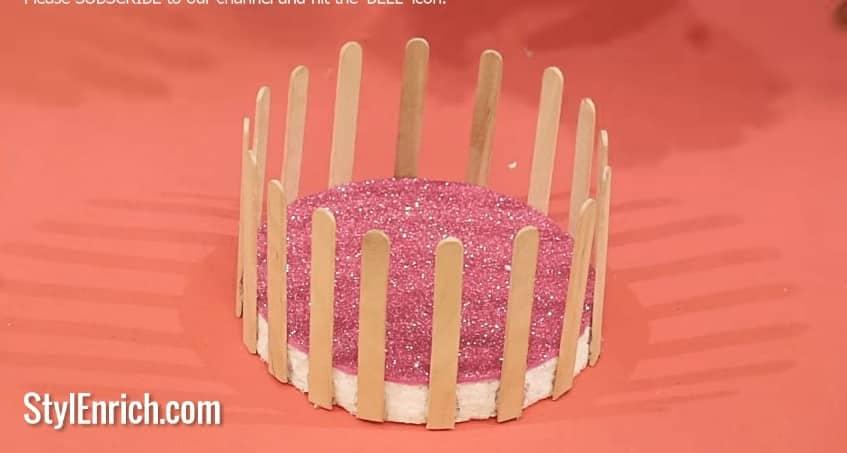 basket from pop stick