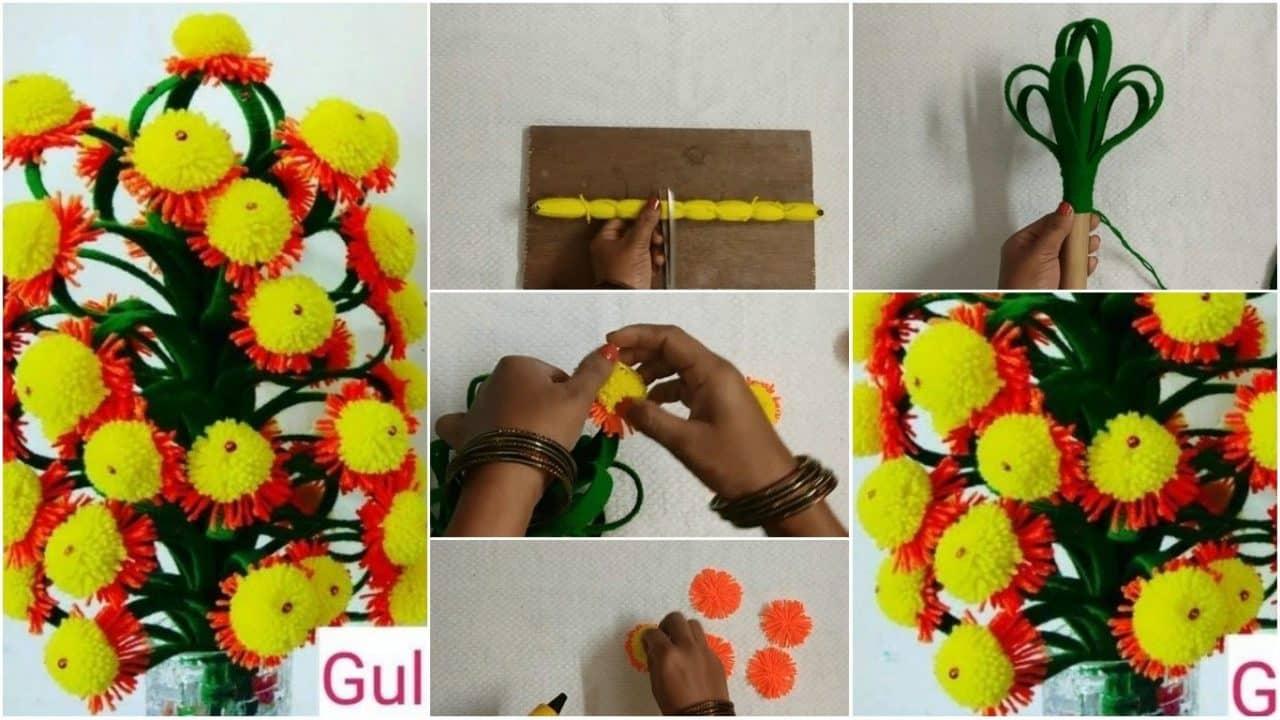 How to make sun flower guldasta