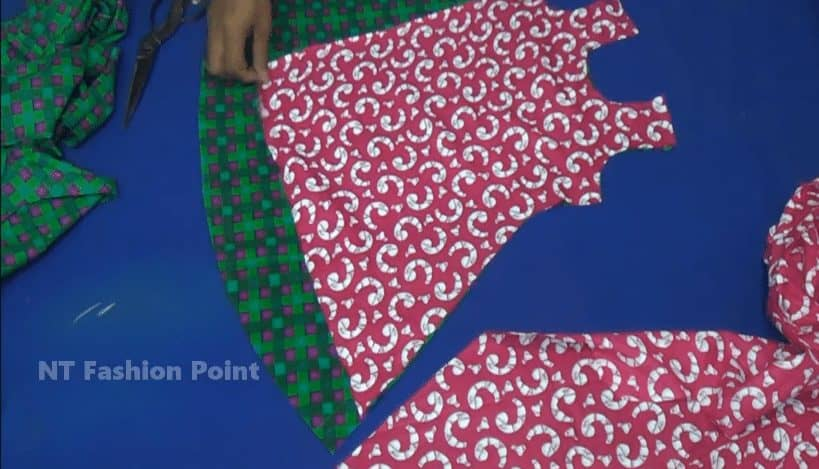 how to cut baby frock step by step