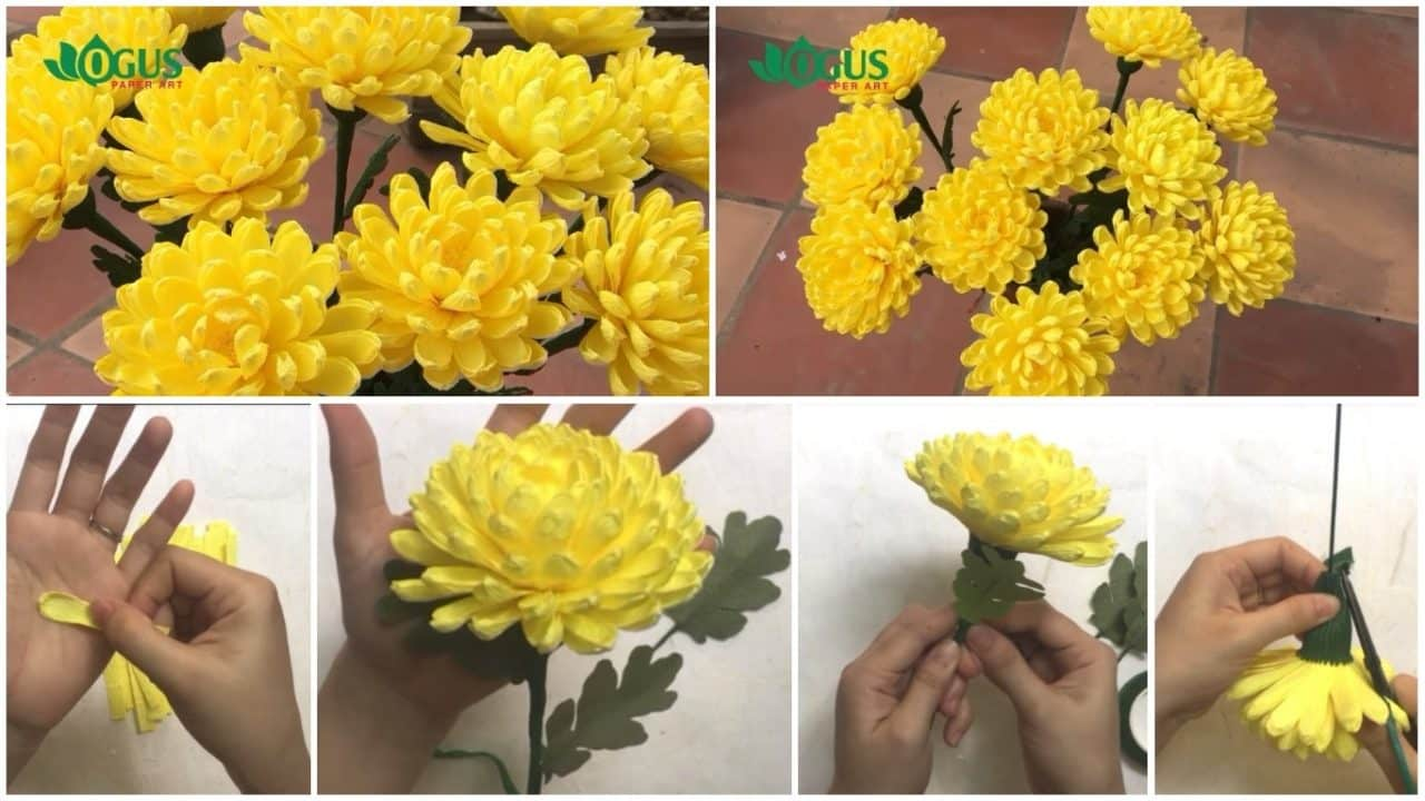 Instructions for making chrysanthemum