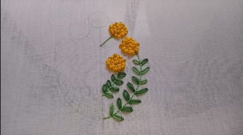 Easy embroidery design on kurthi with french knot and ...