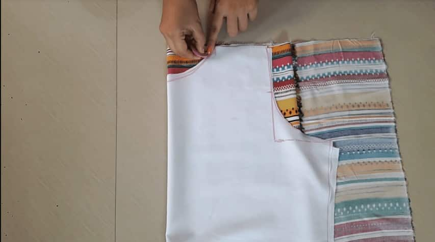 Designer double layer kurti cutting and stitching