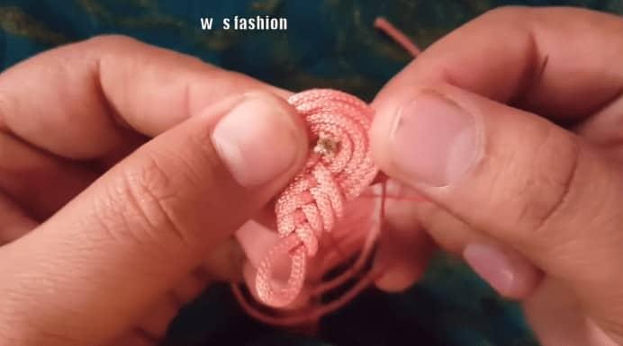 Hand embroidery dori button neck design for hand neck design