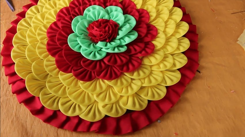 How To Make Doormats Using Waste Clothes Simple Craft Ideas