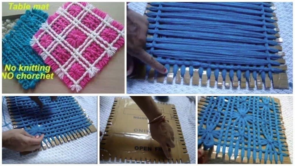 How to make woolen flower table mat