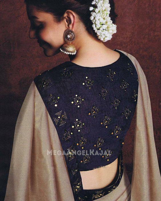 ad8bfe077abd01 If you are looking for new   latest saree blouse design ideas for your  party