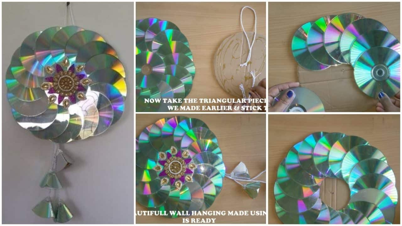 How To Make String Wall Art In Cd Simple Craft Ideas