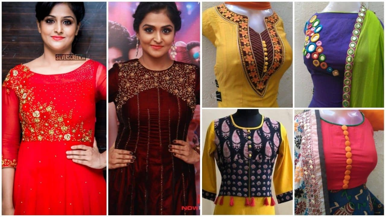 Fashions neck designs for kurtis