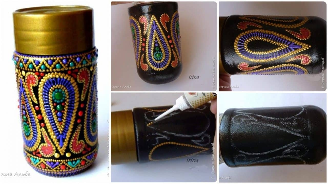 How to make spot painted jars