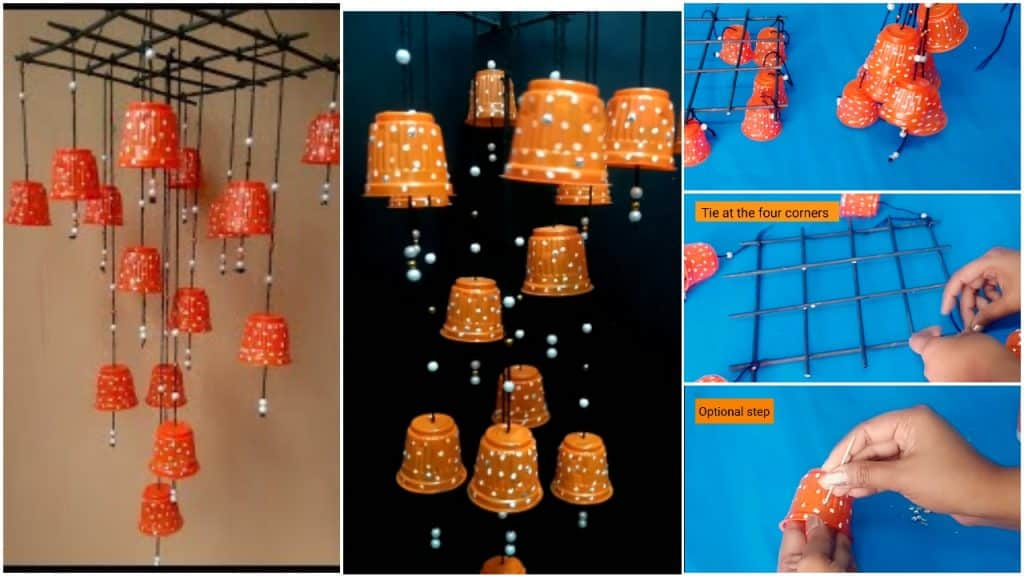 Plastic cups amazing Wind chime design