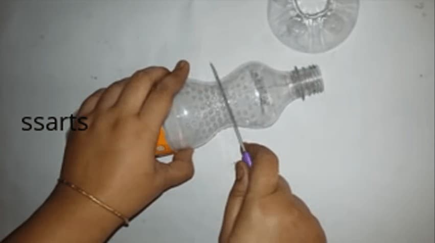 How To Make Flower Vase From Plastic Bottle Simple Craft Ideas
