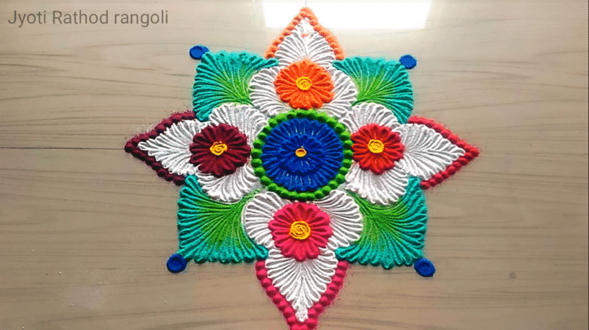How to make easy and simple beautiful rangoli designs