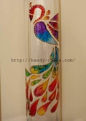 Painting A Vase With Stained Glass Paints Simple Craft Ideas