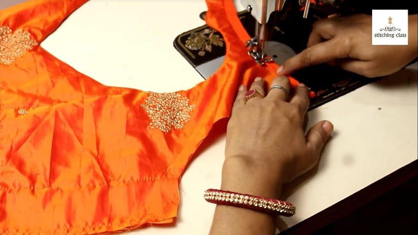Bridal blouse neck design