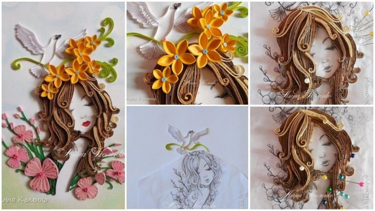 How to make flower fairy girl from quilling