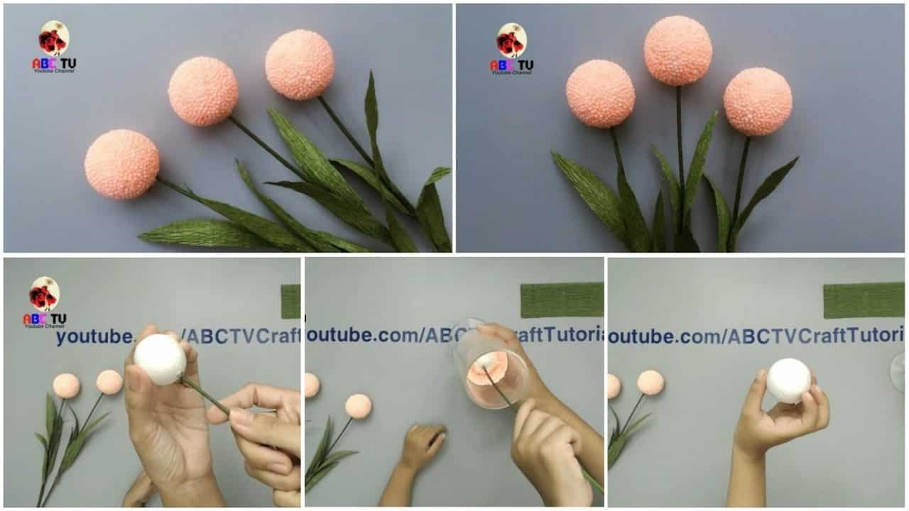 How to make flower from foam beads