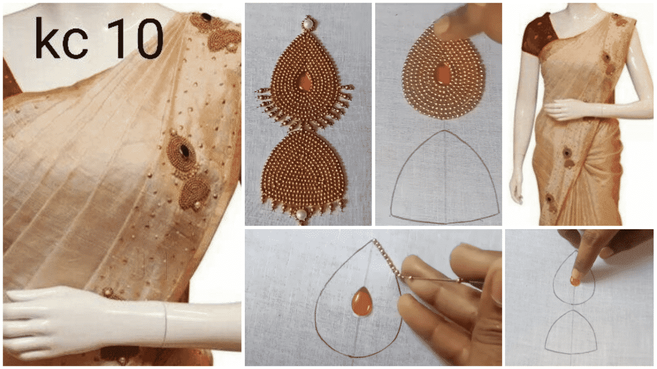 Jumukkas design tutorial for saree and kurti