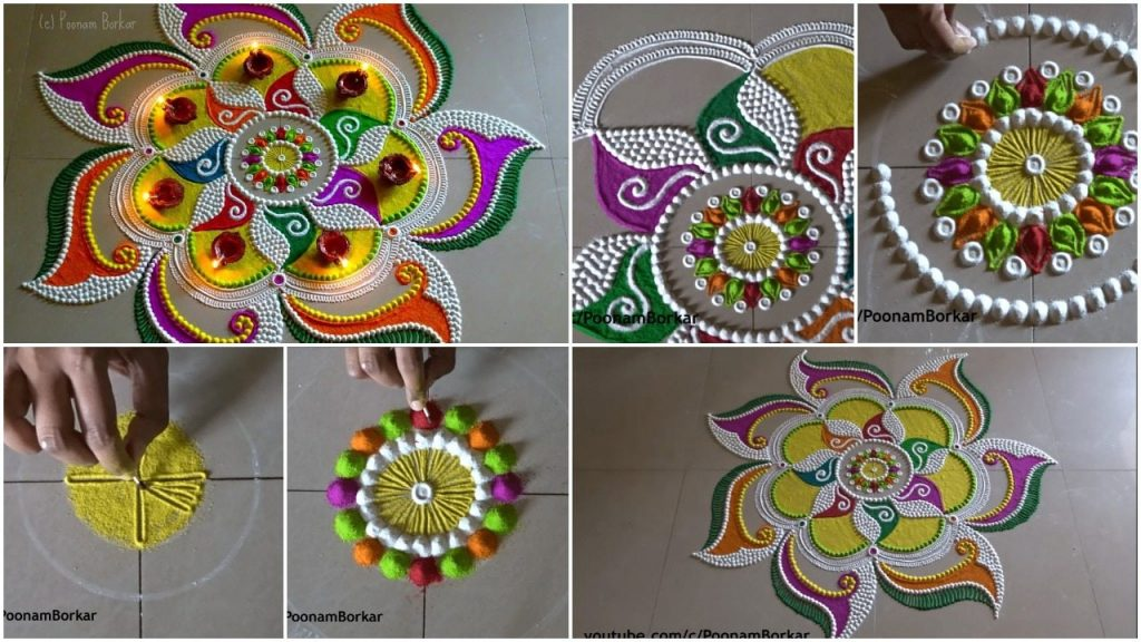 Beautiful and unique rangoli design