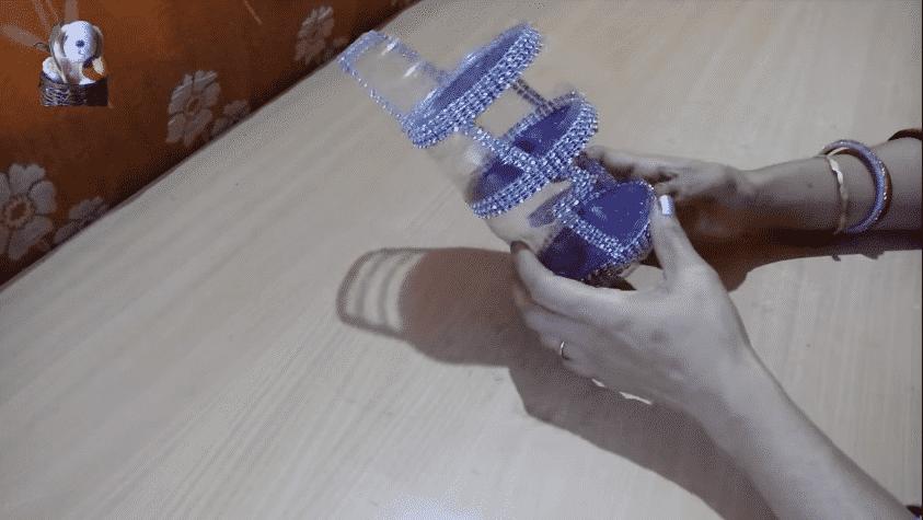 organizer from plastic bottle