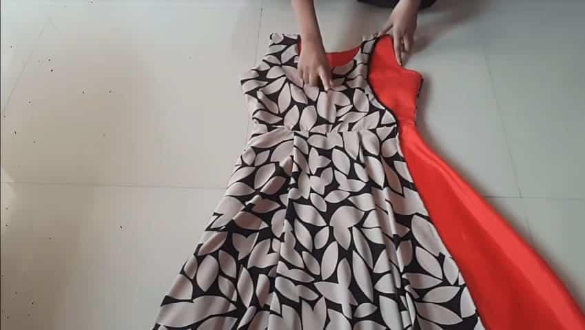 stylish double layer kurti
