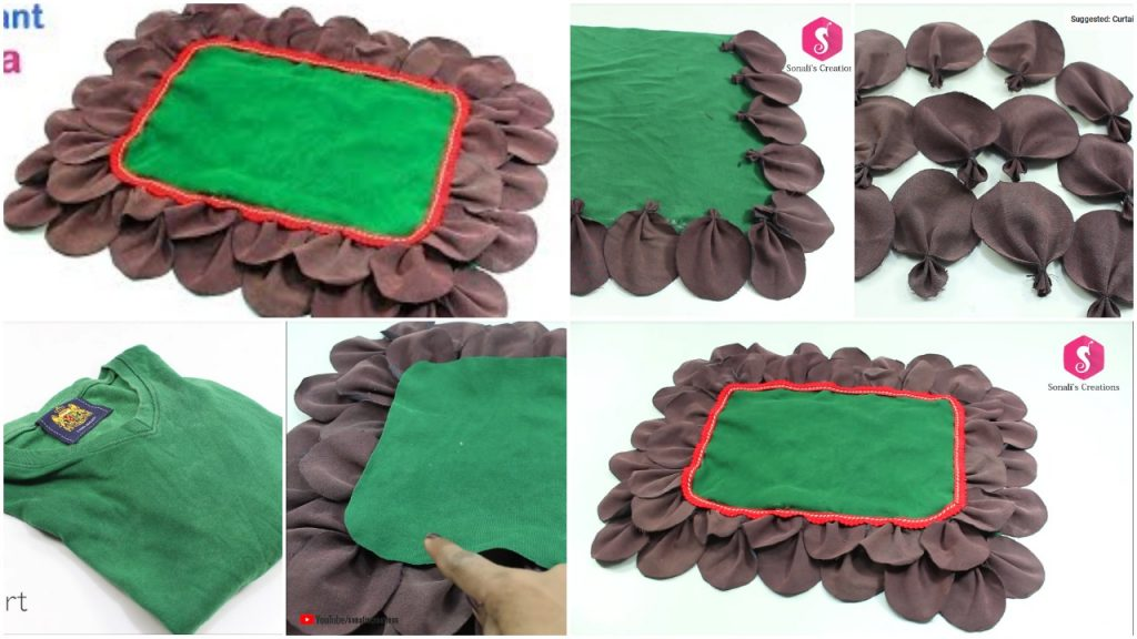How to make floor mat recycling old pant