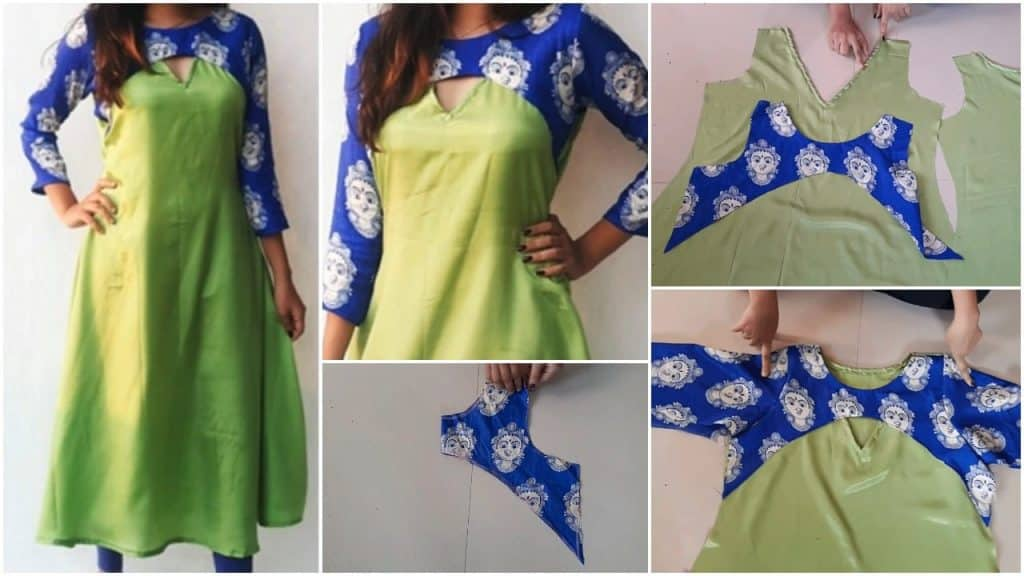 Designer kurti cutting and stitching