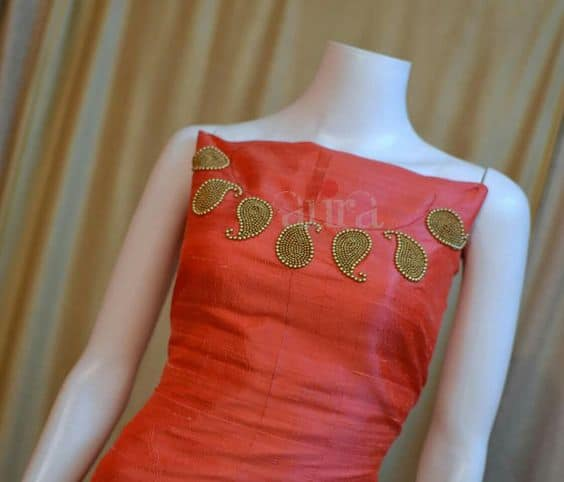 Hand Work Embroidery Neck Designs
