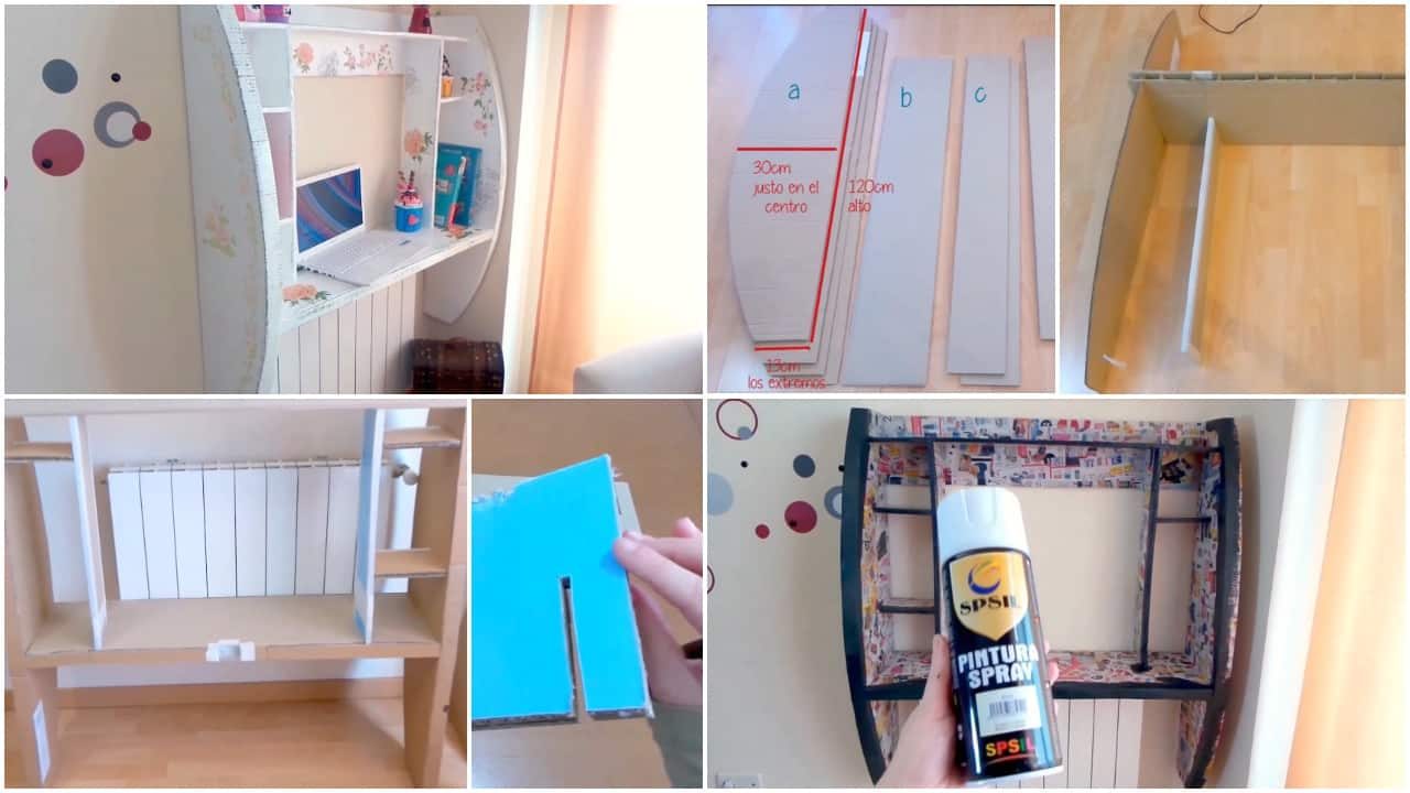 How to make a cardboard furniture for computer
