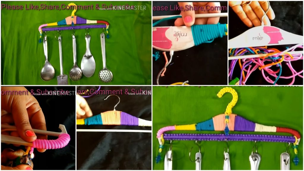 Easy tutorial of kitchen laddle from cloth hanger
