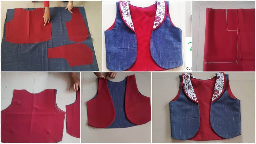 Jacket cutting and stitching full tutorial