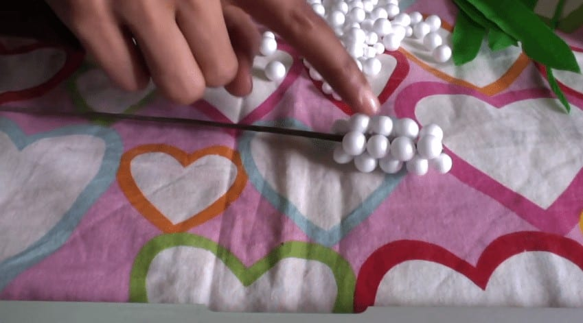 How To Make Flower From Thermocol Ball Simple Craft Ideas