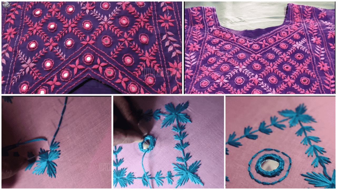 Hand Embroidery For Beautiful Dress Design Simple Craft Ideas