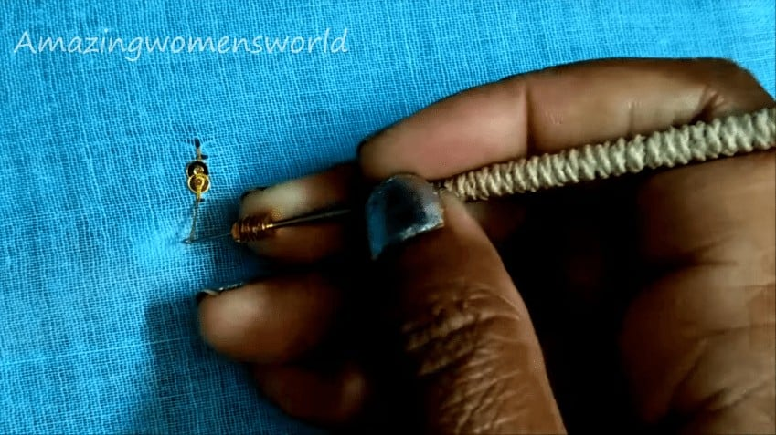 Fancy aari embroidery