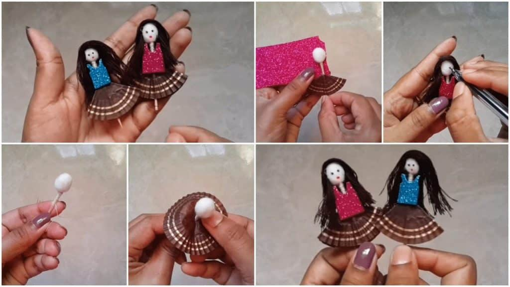 How to make toothpick doll