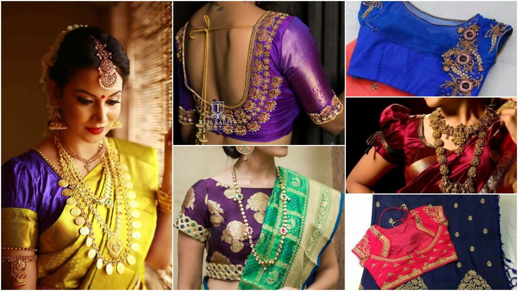 Stunning saree blouse back neck designs