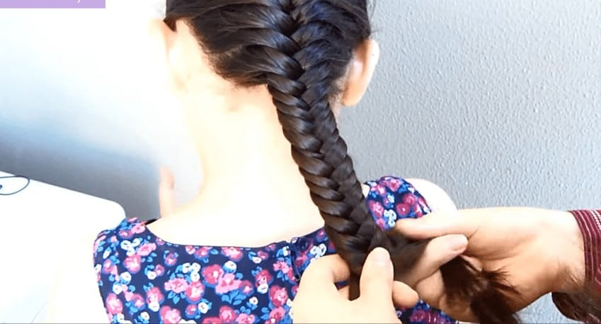 French fishtail braid hair style