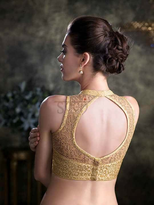 Modern Designer Neck amp Back Blouse Pattern Catalogue The blouses nowadays can be sewn and also it may be found ready made Normally it is actually created as well as sewn to complement the saree On the other hand it is rather popular at present never to meet the saree with the blouse